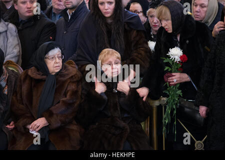 Moscow, Russia. 22nd Dec, 2016. Marina Davydova Karlova (2nd, L), the widow of slain Russian ambassador to Turkey, - Stock Photo
