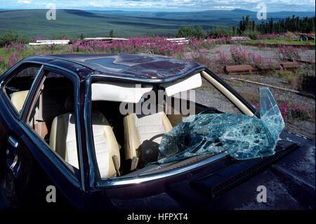 Broken Car Window After An Accident Stock Photo Royalty