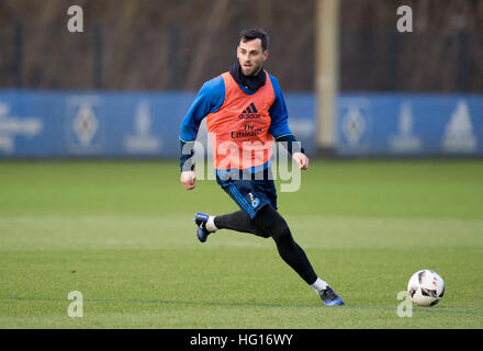 Hamburg, Germany. 4th Jan, 2017. HSV new signing Mergim Mavraj pictured during a training session in Hamburg, Germany, - Stock Photo