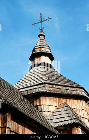 cross on the dome of the old church - Stock Photo