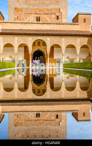 The Torre Comares (Comares Tower) and Patio de Arrayanes (Court of Stock Phot...