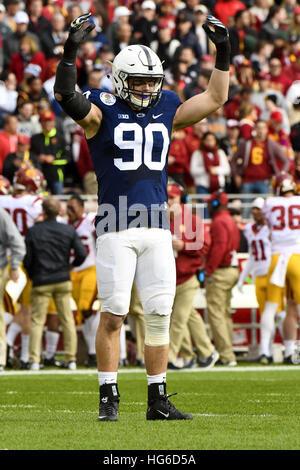 Pasadena, California, USA. 2nd Jan, 2017. Garrett Sickels of the Penn State Nittany Lions in action during a 52 - Stock Photo