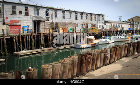 Fishing boats docked at low at in the bay of fundy town of for Harbor fish market portland maine