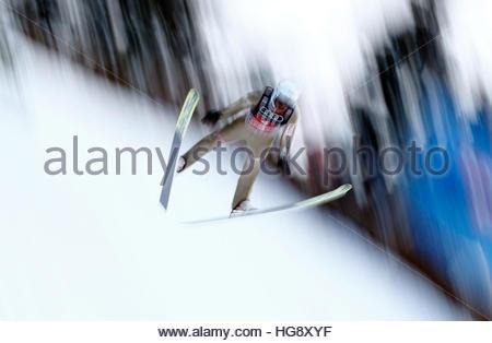 Ski Jumping - 65th four-hills ski jumping tournament trial round - Bischofshofen, Austria - 06/01/2017 - Poland's - Stockfoto