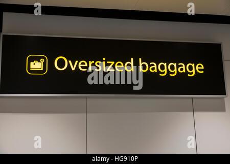 Oversized Large Over Sized Passenger Luggage Bag Drop