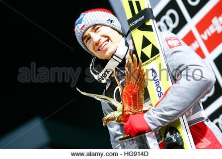 Ski Jumping - 65th four-hills ski jumping tournament final round - Bischofshofen, Austria - 06/01/2017 - Poland's - Stockfoto