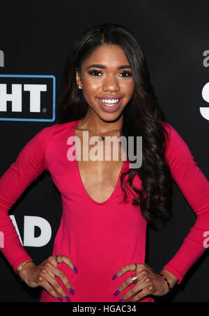 Los Angeles, CA - JANUARY 05: Teala Dunn, At Premiere Of Open Road Films' 'Sleepless', At Regal LA Live Stadium - Stock Photo