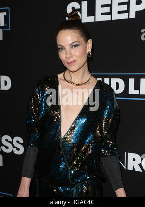 Los Angeles, CA - JANUARY 05: Michelle Monaghan, At Premiere Of Open Road Films' 'Sleepless', At Regal LA Live Stadium - Stock Photo