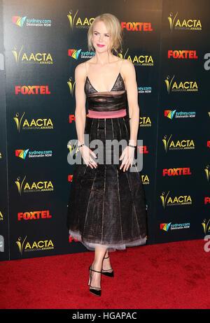Los Angeles, CA, USA. 6th Jan, 2017. 06 January 2017 - Los Angeles, California - Nicole Kidman. 6th AACTA International - Stock Photo