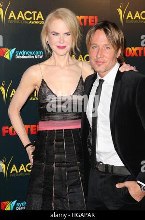 Los Angeles, CA, USA. 6th Jan, 2017. 06 January 2017 - Los Angeles, California - Nicole Kidman, Keith Urban. 6th - Stock Photo