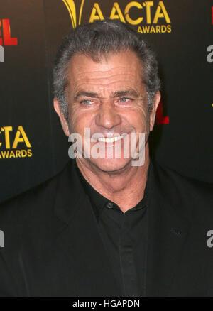Los Angeles, CA, USA. 6th Jan, 2017. 06 January 2017 - Los Angeles, California - Mel Gibson. 6th AACTA International - Stock Photo