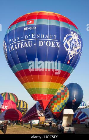 HB-QUD Chateau D'Oex Cameron Hot Air Balloon at Bristol International Balloon Fiesta 2016 - Stock Photo