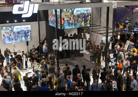 Las Vegas, US. 06th Jan, 2017. A remote-controlled drone from the Chinese manufacturer DJI is presented at the CES - Stock Photo