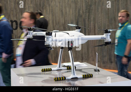 Las Vegas, US. 06th Jan, 2017. A remote-controlled drone from the Chinese manufacturer Ehang can be seen at the - Stock Photo