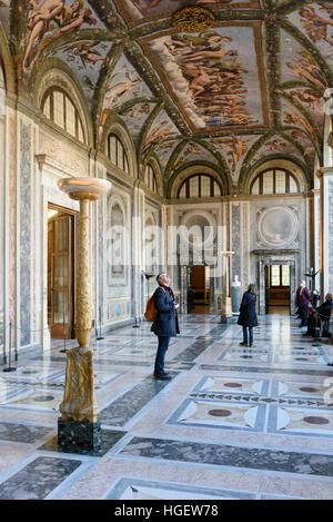 Rome. Italy. Villa Farnesina. La Loggia di Amore e Psiche (The Loggia of Cupid and Psyche), with frescoes by Raphael - Stock Photo