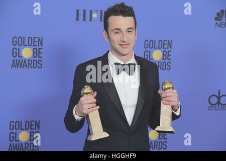 Hollywood, California, USA. 8th Jan, 2017. I15874CHW.74th Annual Golden Awards - Press Room .The Beverly Hilton - Stock Photo