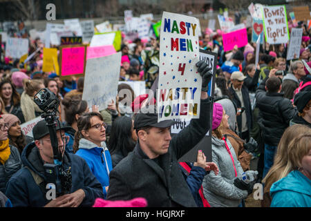 Washington, DC, USA. 21st Jan, 2017. Women's March on Washington in Washington DC, rally to protest the inauguration - Stock Photo