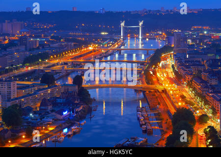 Aerial view of rouen france stock photo royalty free for Haute normandie rouen