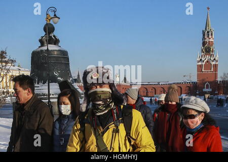 Moscow, Russia. 22nd Dec, 2016. Tourists visiting the Moscow Kremlin. © Sergei Fadeichev/TASS/Alamy Live News - Stock Photo
