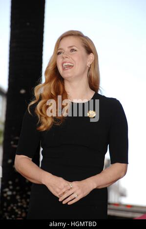 Los Angeles, USA. 11th Jan, 2017. Amy Adams at the induction ceremony for Star on the Hollywood Walk of Fame for - Stockfoto