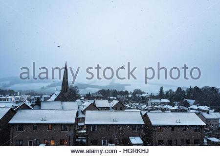 Selkirk, Scottish Borders, UK. 12th January 2017. The town of Selkirk in the Scottish Borders wakes up to a winter - Stockfoto
