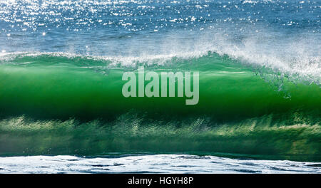 Big wave break spray in the Pacific Ocean - Stock Photo