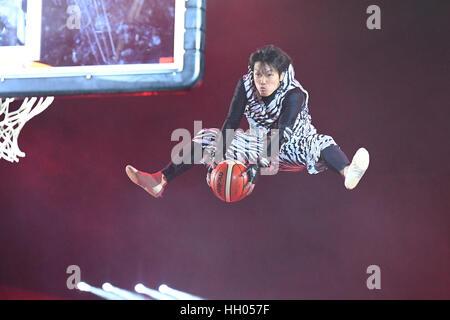 Tokyo, Japan. 15th Jan, 2017. Daisuke Nakata Basketball : B.LEAGUE All Star Game 2017 match between B.Black 117 - Stock Photo