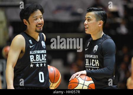 Tokyo, Japan. 15th Jan, 2017. (L-R) Yuta Tabuse (Brex), Yuki Togashi (Jets) Basketball : B.LEAGUE All Star Game - Stockfoto