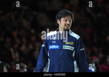 Tokyo, Japan. 15th Jan, 2017. Yuta Tabuse (Brex) Basketball : B.LEAGUE All Star Game 2017 match between B.Black - Stock Photo