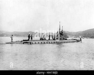 Second World War / WWII, naval warfare, italian submarine - Stock Photo