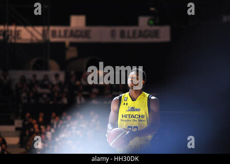 Tokyo, Japan. 15th Jan, 2017. Ira Brown (Sunrockers) during the B League All Star Game 2017 Dunk contest at 1st - Stockfoto