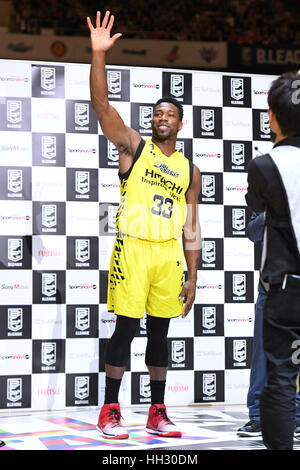 Tokyo, Japan. 15th Jan, 2017. Ira Brown (Sunrockers) during the B League All Star Game 2017 Dunk contest at 1st - Stock Photo
