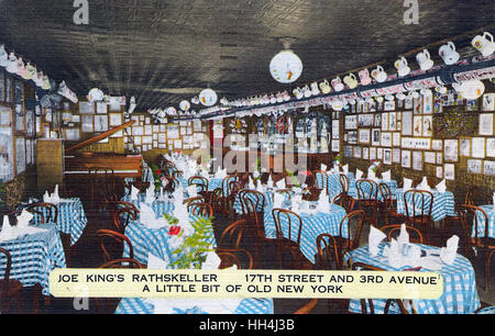 Joe King's Rathskeller, 17th Street and 3rd Avenue, New York City, USA -- a retro-style restaurant serving old-fashioned - Stock Photo