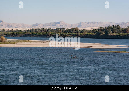 Cruises Along The Nile River In Egypt Show People Living