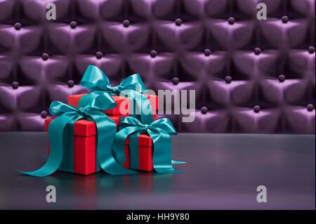 present, furniture, colour, interior, decor, purple, gift, stylish, material, - Stock Photo