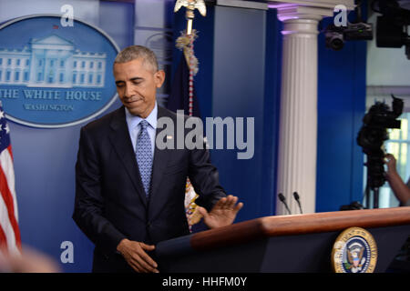 Washington, DC, USA. 18th Jan, 2017. President Barack Obama holds the final press conference his two term presidiency - Stock Photo