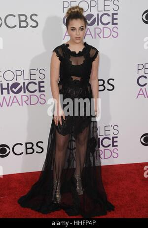 Los Angeles, CA, USA. 18th Jan, 2017. Baby Ariel at arrivals for People's Choice Awards 2017 at the Microsoft Theatre - Stock Photo