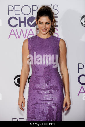 Los Angeles, USA. 18th Jan, 2017. Ashley Greene arrives for the People's Choice Awards at the Microsoft Theater - Stock Photo