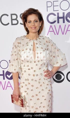 Los Angeles, California, USA. 18th January 2017. Candace Cameron Bure at the People's Choice Awards 2017 held at - Stock Photo