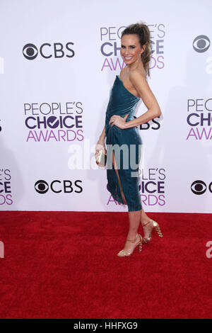 Los Angeles, Ca, USA. 18th Jan, 2017. Keltie Knight at the 42nd Annual People's Choice Awards at Microsoft Theater - Stock Photo