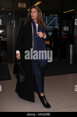 Los Angeles, California, USA. 19th Jan, 2017. Caitlyn Jenner seen at LAX International Airport on January 19, 2017 - Stock Photo