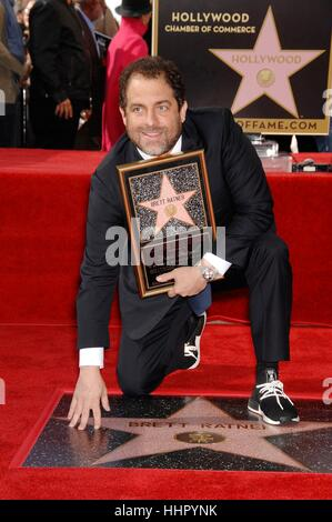 Los Angeles, USA. 19th Jan, 2017. Brett Ratner at the induction ceremony for his star on the Hollywood Walk of Fame - Stock Photo