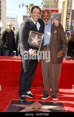 Los Angeles, USA. 19th Jan, 2017. Brett Ratner, Clarence Avant at the induction ceremony for his star on the Hollywood - Stock Photo