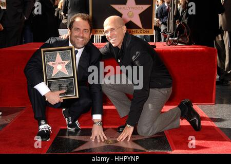 Los Angeles, USA. 19th Jan, 2017. Brett Ratner, Jeffrey Katzenberg at the induction ceremony for his star on the - Stock Photo