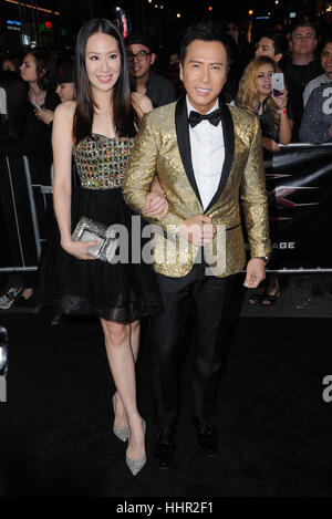 January 19, 2017 - Hollywood, CA, United States -  Donnie Yen. Los Angeles premiere of  ''xXx: Return Of Xander - Stock Photo