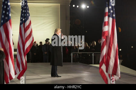 Arlington, USA. 19th Jan, 2017. President-elect of The United States Donald J. Trump makes remarks at the 'Make - Stock Photo