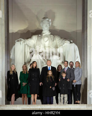 Arlington, USA. 19th Jan, 2017. President-elect of The United States Donald J. Trump and FIRST LADY-elect of The - Stock Photo