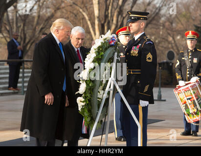 Arlington, USA. 19th Jan, 2017. President-elect of The United States Donald J. Trump and Vice President-elect of - Stock Photo