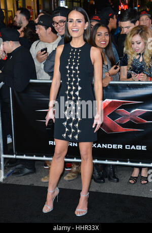 Los Angeles, USA. 19th Jan, 2017.  Actress Jordana Brewster at the Los Angeles premiere of 'XXX: Return of Xander - Stock Photo