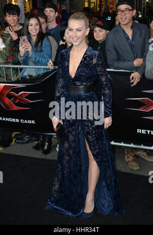 Los Angeles, USA. 19th Jan, 2017.  Actress Julianne Hough at the Los Angeles premiere of 'XXX: Return of Xander - Stock Photo